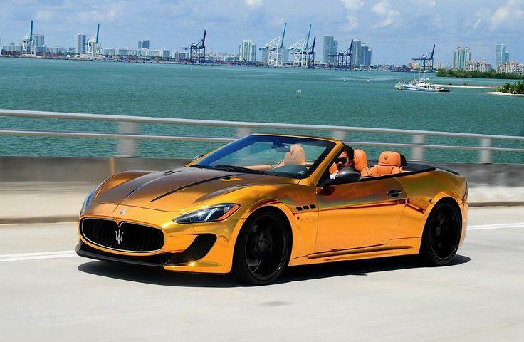 gold Maserati convertible