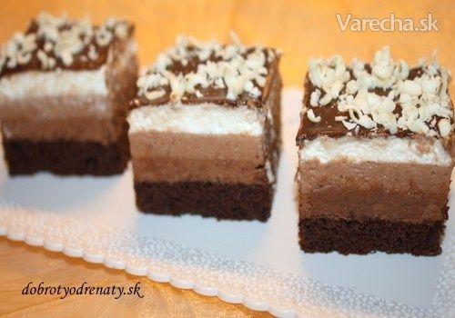 Čokoládový trojboj (fotorecept) - Recept