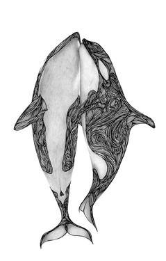 "Saatchi Art Artist Max Rajado; Drawing, ""Killer Whales?"""