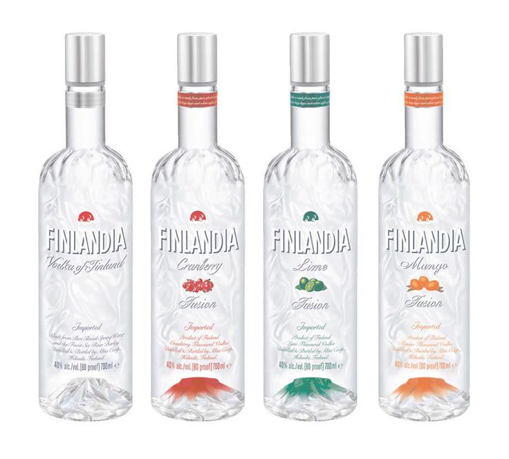 Finlandia Vodka of Finland / Cranberry / Lime / Mango ... #viina #alkoholi #mainos