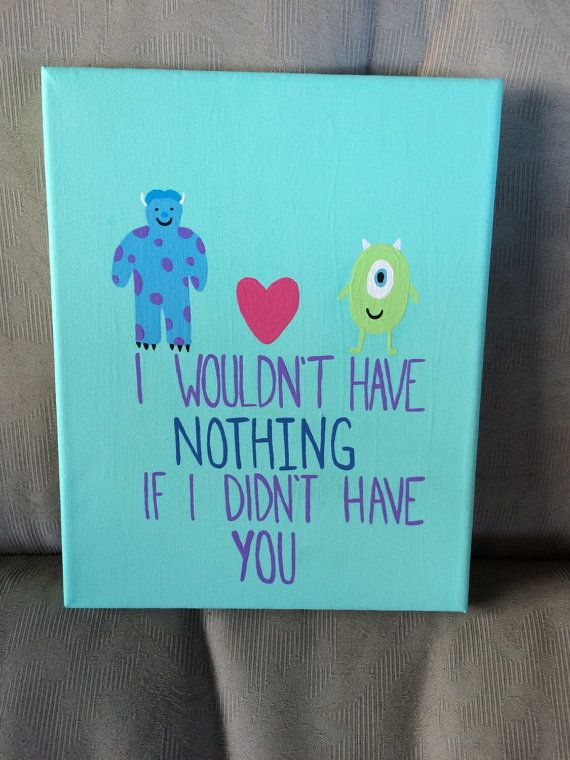 Monsters Inc. Canvas by EastCoastCanvas on Etsy