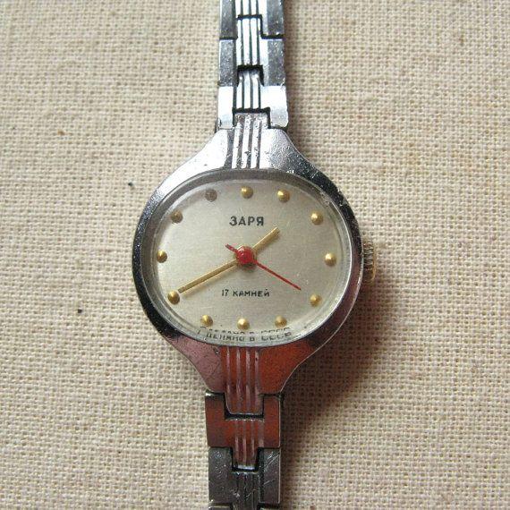 Vintage Women's Watch Zarya With Bracelet Perfectly Working, Vintage Soviet Watch, Ladies Watch Luch, Wrist Watch Womens, 17 Jewels USSR https://www.etsy.com/shop/MyBootSale