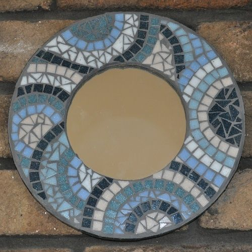 Mosaic Tile Apartment Ideas: This Mosaic Mirror Is Perfect For Beginners. Created Using
