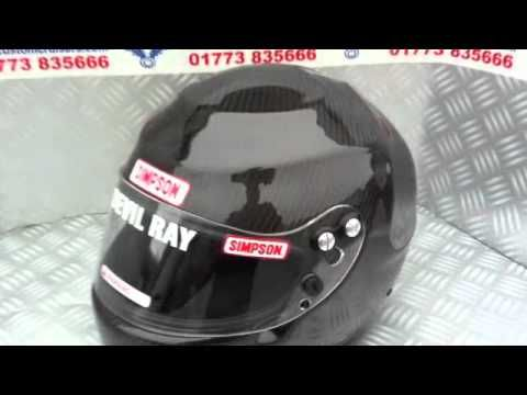 Simpson Carbon Devil Ray helmet from Custom Cruisers UK simpson-helmets.eu