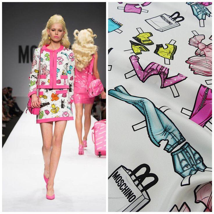 Our Fabrics #Moschino #fashion #runway #barbie #hautecouture #silk #pink