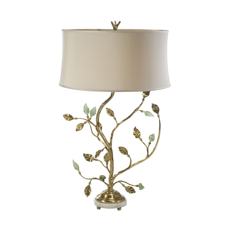 131 best table lamp floor lamp images on pinterest floor lamps a finely cast brass leaf table lamp the scrolling branches issuing brass and hand blown aloadofball Image collections