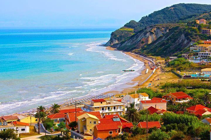 San Stefanos village on Corfu's north-west coast, Greece http://www.rooms-2-let.com/