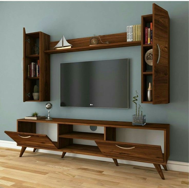 11 Wall Tv Place Ideas By Using Pallets As Material For Making It 7 Homeplandecor Com Furniture Design Living Room Living Room Tv Living Room Tv Unit