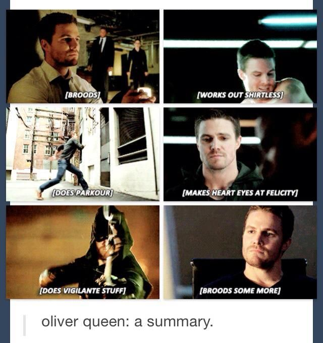 Well this is accurate :) Arrow | Oliver Queen