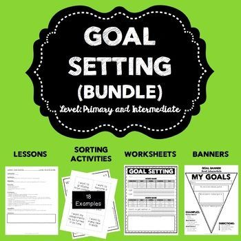 Goal setting is a concept that is beneficial to be used throughout the   year! Whether it's right at the beginning of school, a new unit, testing   season or giving a boost to growth mindset. This Goal Setting Bundle   includes -Primary lesson plan (includes ASCA standards) -Primary goal   setting worksheet -Primary goal setting banner -Intermediate lesson plan   (includes ASCA standards) -Intermediate goal setting sorting activity   (includes 18 examples) -Intermediate goal setting…