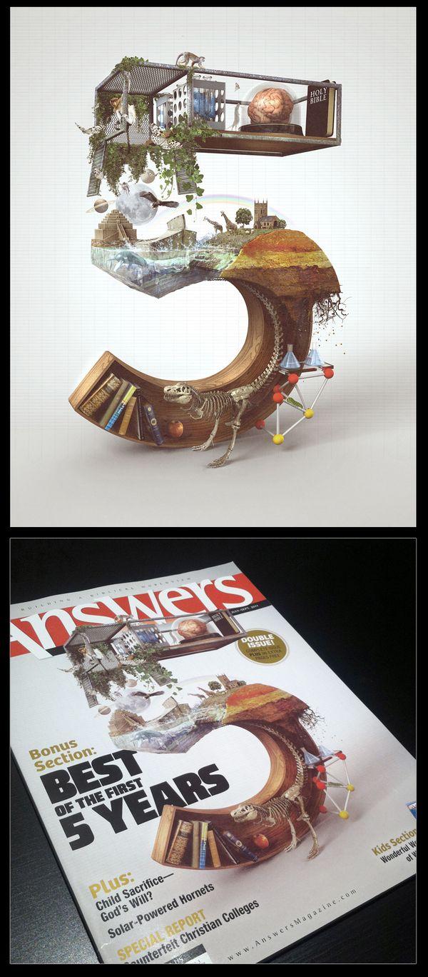 Breathtaking 3D Typography Illustrations by Barton Damer