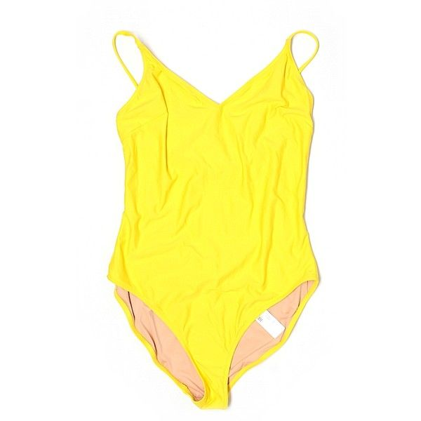 Pre-owned J. Crew One Piece Swimsuit Size 10: Yellow Women's Swimwear ($30) ❤ liked on Polyvore featuring swimwear, one-piece swimsuits, yellow, yellow one piece bathing suit, j crew swimwear, one piece swimsuit, j crew one piece swimsuit and j crew bathing suits