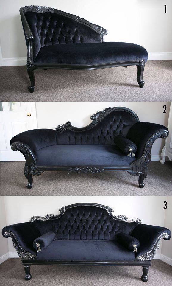 48 best fainting couch images on pinterest fainting for Backless double ended chaise longue
