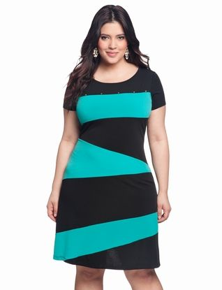 Colorblock Knit Dress | Plus Size Work & Day Dresses | eloquii by THE LIMITED