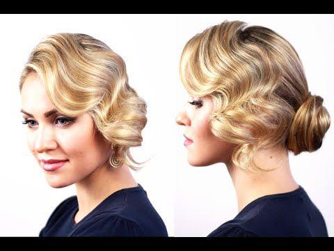 M Вечерняя прическа с холодной волной. Evening Hairstyle Based on a Cold Wave - YouTube