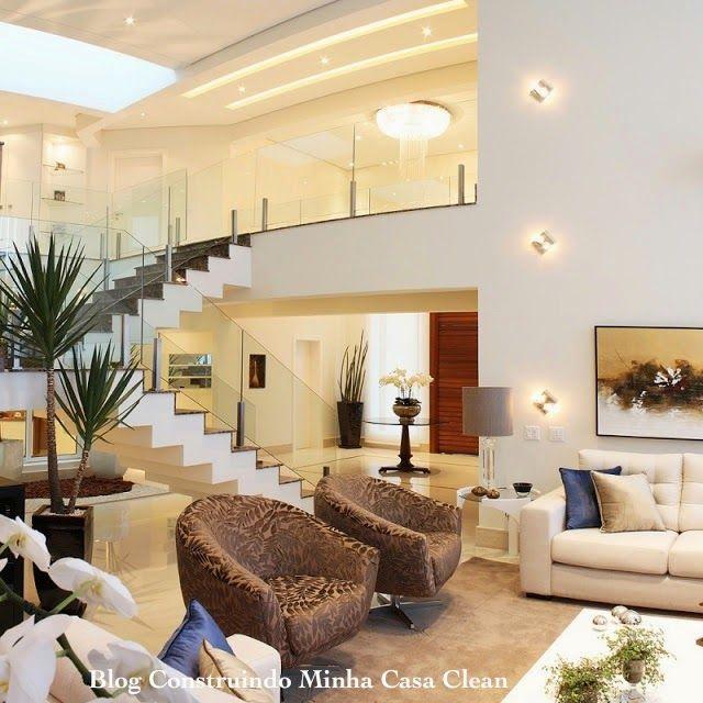 93 best ideias para a casa images on pinterest modern for Salas modernas de casas