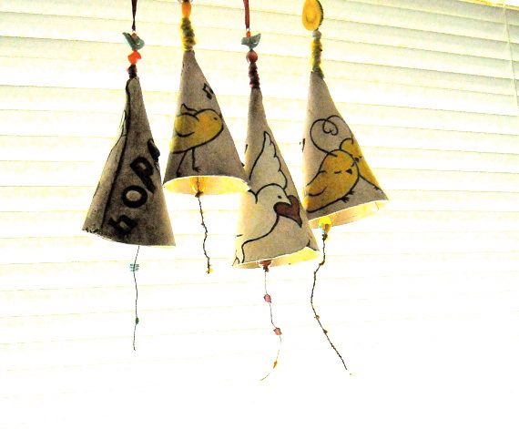 Personalized Bell - HandMade TO ORDER Custom Stamped & Illustrated Musical Bell Instrument - Inspirational Kids Nursery Hanging Wind Chime