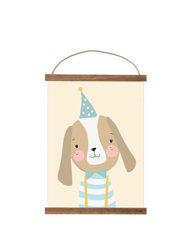 Illustration, gedruckt auf hochwertigem Karton.  Ein süßer Hingucker im Kinderzimmer.  Das Bild wird ohne Rahmen geliefert, jedoch passt es z.B. perfekt in den Rahmen von Ikea, RIBBA (30x40cm)...