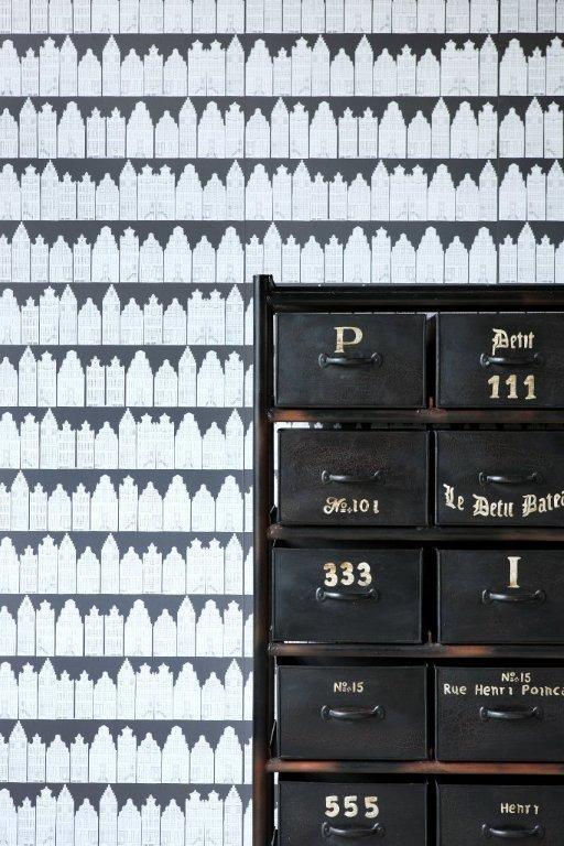 Collection: City Limits  Design: Cape Dutch Black Board  http://www.hertex.co.za/wallpaper/city%20limits.html