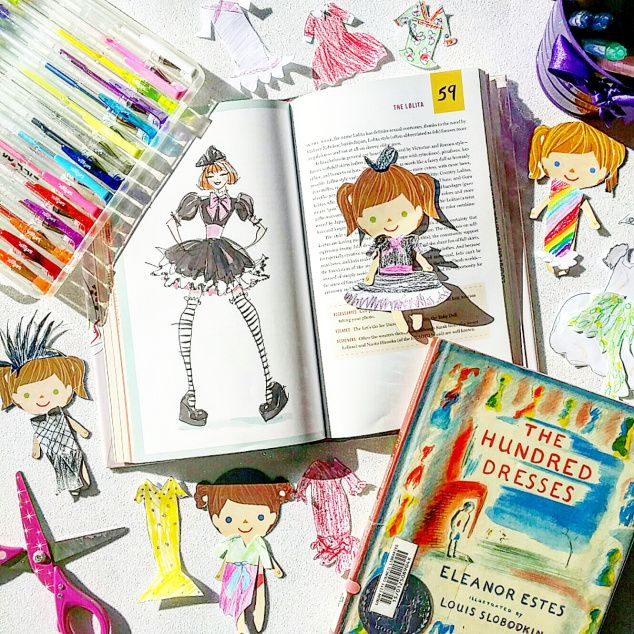 If your little one loves paper dolls, dress-ups and drawing, you need to beg, borrow or buy The Hundred Dresses books – both the adult and the child versions.