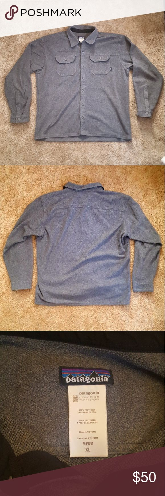 Men's Patagonia Fleece Jacket Size XL Men's grey Patagonia fleece button up jacket size XL. 100% polyester and in great condition! Winter is coming, stay warm! Patagonia Jackets & Coats Lightweight & Shirt Jackets