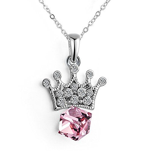 Christmas Gift No.1 Floating Cubic Pink Sapphire Swarovski Elements Crystal Crown Pendant Necklace for Women SWAROVSKI Element Crystal Collection http://www.amazon.com/Christmas-Floating-Sapphire-Swarovski-Crystal/dp/B016UM399A/ref=sr_1_8?s=apparel&ie=UTF8&qid=1445820563&sr=1-8&nodeID=7141123011&keywords=swarovski+necklace #pink #crystal #pendant #swarovski #necklace