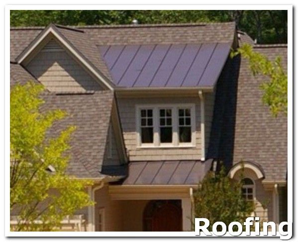 Roofing Shingles Some Of The New Types Of Roofing Materials Are Steel Panels Slate Tiles And Shingles Formed From Composi Patio Roof Shed Dormer Roofing