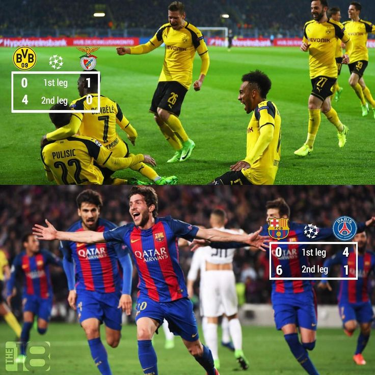 Don't ever change, Champions League.  .  .  .  .  .  .  .  .  #championsleague #ucl #barca #fcblive #fcbarcelona #psg #comeback #messi #neymar #sergiroberto #uefa #dortmund #bvb #benfica #soccer #futbol #football