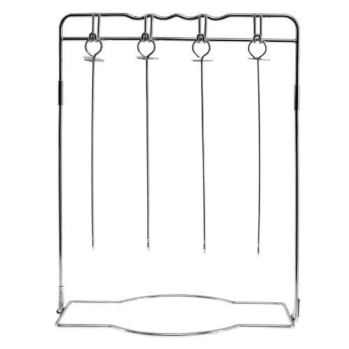 Mr. Bar-B-Q 40220X Hanging Shish Kabob Set by Mr. Bar-B-Q. $15.42. Impress and Entertain With This Unique Style Hanging Skewer Set. Comes With Four Deluxe Skewers with Push Bars. Grill Different Meats, Vegetables and Seafood, Then Hang For Serving. Collapsible for Easy Storage. Mr. Bar-B-Q Hanging Shish Kabob Set. Impress and Entertain With This Unique Style Hanging Skewer Set. Grill Different Meats, Vegetables and Seafood, Then Hang For Serving. Comes With Four De...