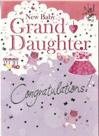 congratulations on your new granddaughter cyber greeting