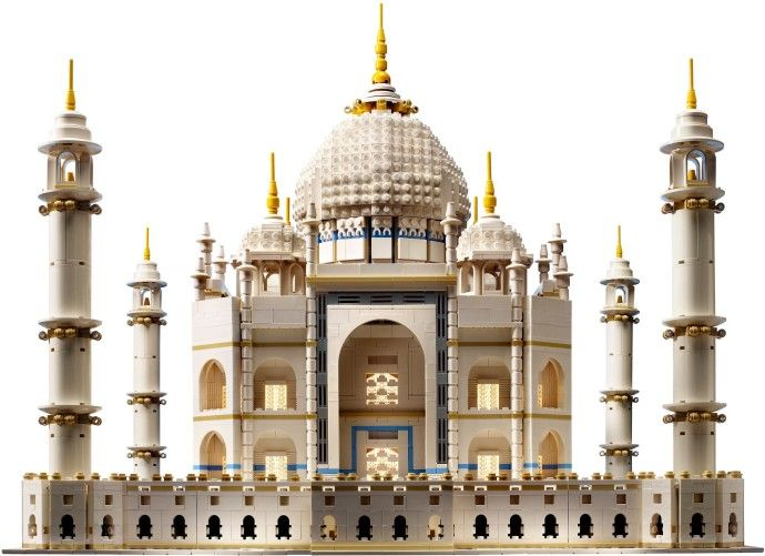 Taj Mahal, 1653 CE, in Agra, India, by architect Ustad Ahmad Lahauri. At 5900 pieces, the Taj Mahal is the largest official LEGO set ever sold. It is in the Mughal architectural style, which is related to Islamic architecture even though it is a non-religious building. More info at https://en.wikipedia.org/wiki/Taj_Mahal
