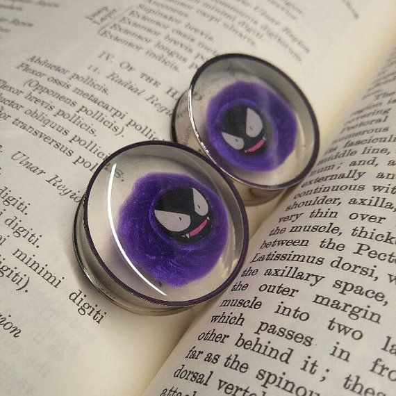 Hey, I found this really awesome Etsy listing at https://www.etsy.com/listing/170635344/gastly-pokemon-smoke-plugs-for-pair