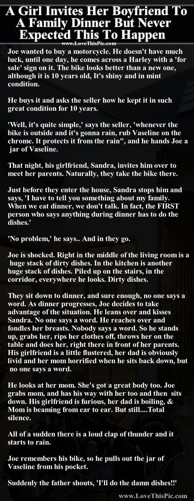 A Girl Invites Her Boyfriend To A Family Dinner But Never Expected This To Happen http://ibeebz.com
