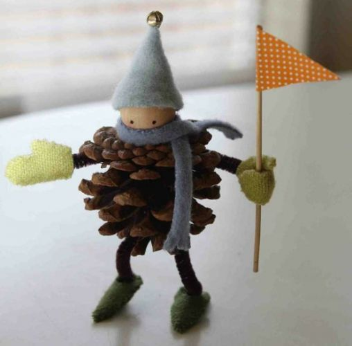 Good pine corn craft idea! I might do it at winter craft fair with kids.