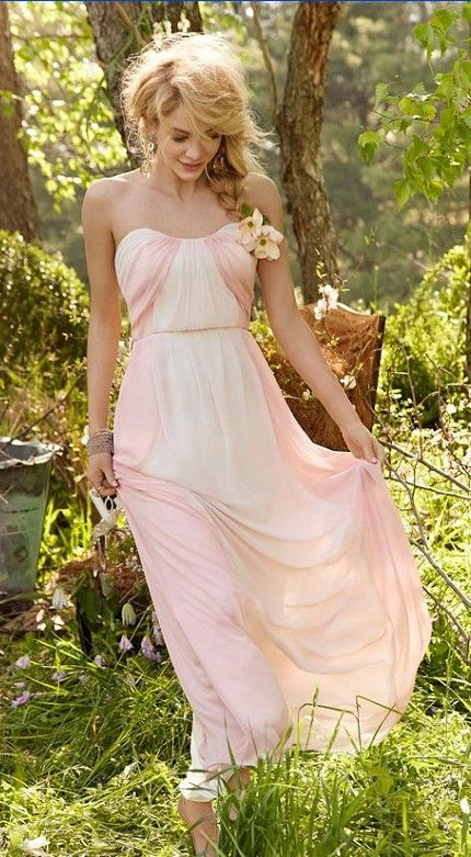 Not the color, but I like this style for Bridesmaid Dresses. Loose &relaxed
