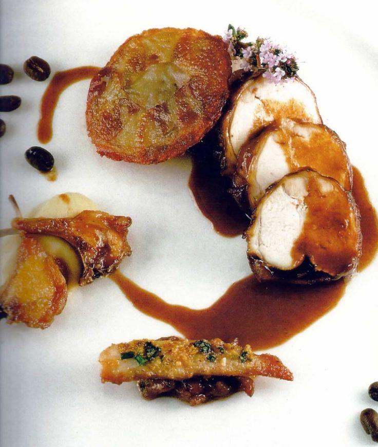 Receta: Conejo con salsa de café y sus chuletillas al ajillo