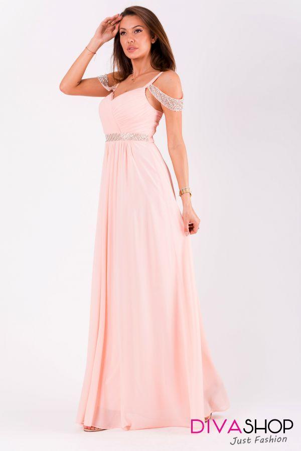 dde736c4c Rochie de seara roz Olivia - 285 Lei - Fabricat in Europa - 100% poliester