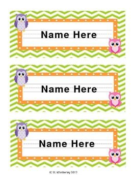 Owl Name Labels- Customizable and FREE