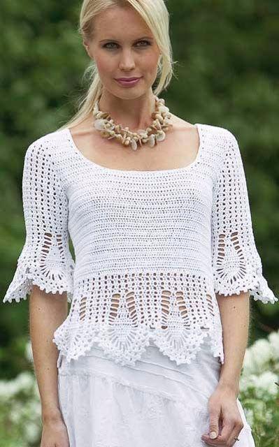 Delicadezas en crochet Gabriela: Blusa