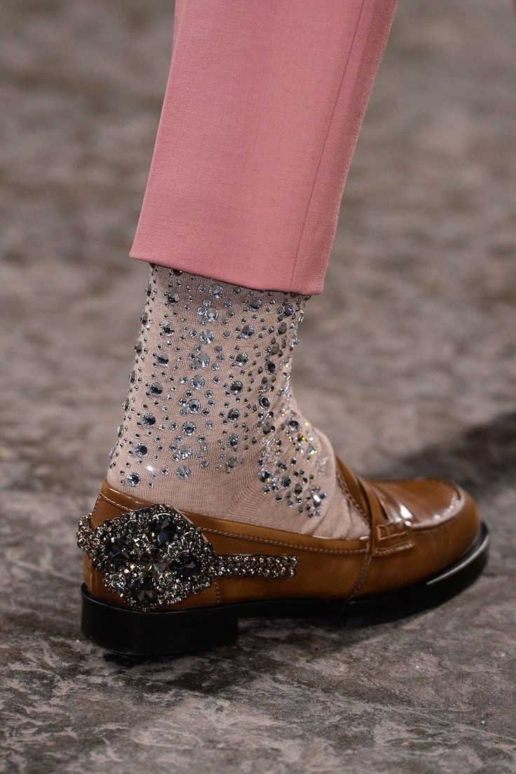 alessandro dell'acqua #loafer #bling #pink