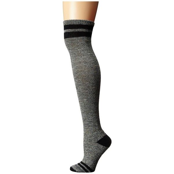 Smartwool Retro Tube Socks (Black) Women's Thigh High Socks ($33) ❤ liked on Polyvore featuring intimates, hosiery, socks, cuff socks, tube socks, wool knee socks, wool socks and retro socks