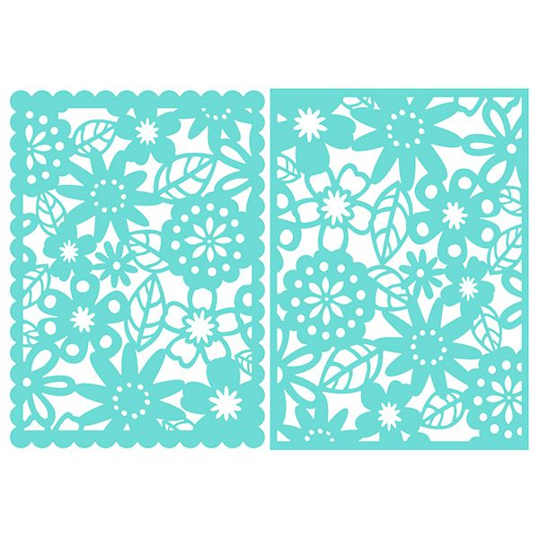 5x7 Floral Lace Card Fronts Scanncut Stencils