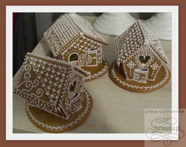 Domki ,domek z piernika - tort w galerii prac użytkowników www.tortownia.pl