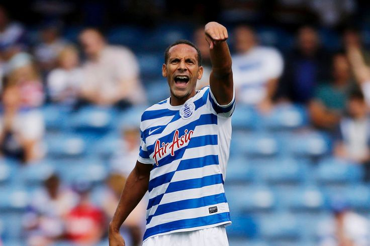 @QPR player Rio Ferdinand leading the team on the field #9ine