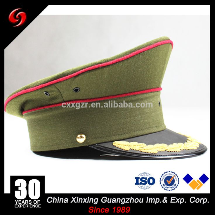 Miltary embroidered peaked caps/custom military officers visor caps