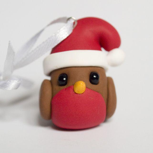 Christmas | Ornament | Robin | Clay