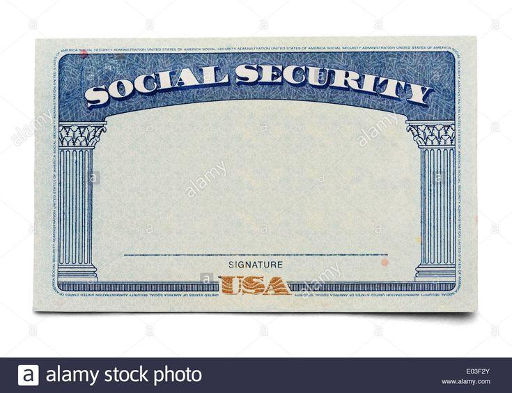 The Fascinating Social Security Stock Photos Social Security Stock Images Intended For Business Card Template Photoshop Social Security Card Id Card Template