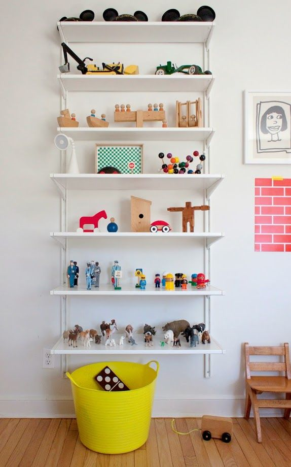 Kids room - Toy storage shelf - Home of Abby Low and family - Via A Cup of Jo