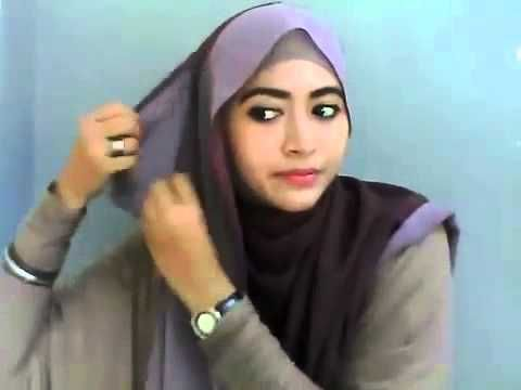 hijab tutorial for round face 2