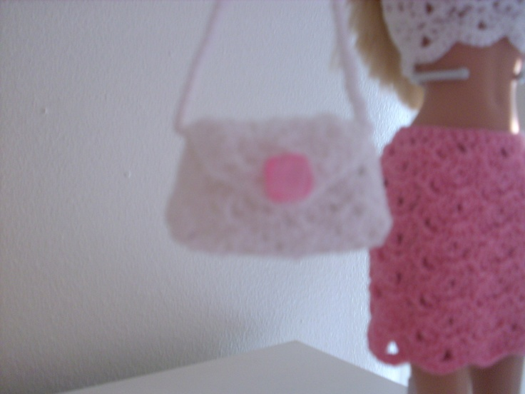 234 best make doll clothes images on pinterest doll dresses crochet for barbie the belly button body type white shell purse dt1010fo